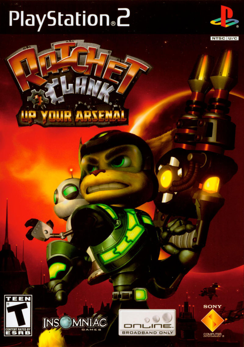 Ratchet & Clank: Up Your Arsenal PlayStation 2 Front Cover