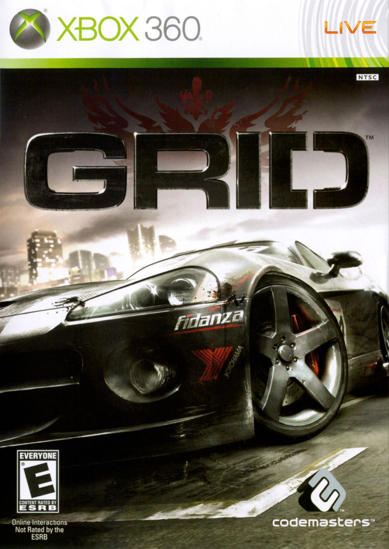 GRID Xbox 360 Front Cover