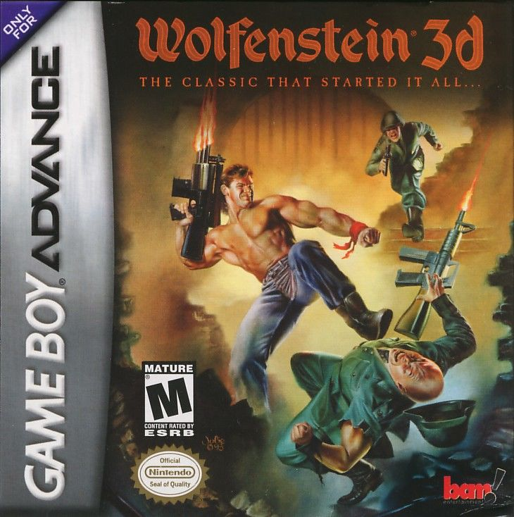 Wolfenstein 3D Game Boy Advance Front Cover