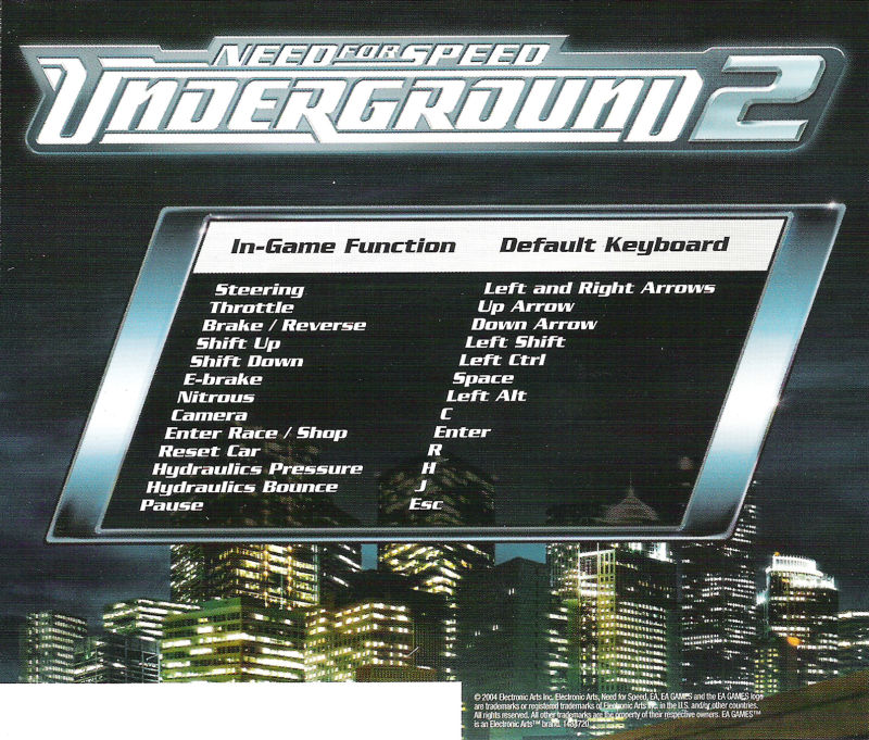 Need for Speed: Underground 2 Windows Other Jewel Case - Back