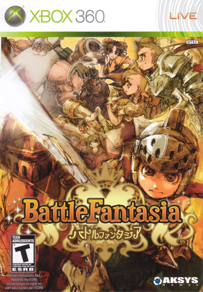 Battle Fantasia Xbox 360 Front Cover