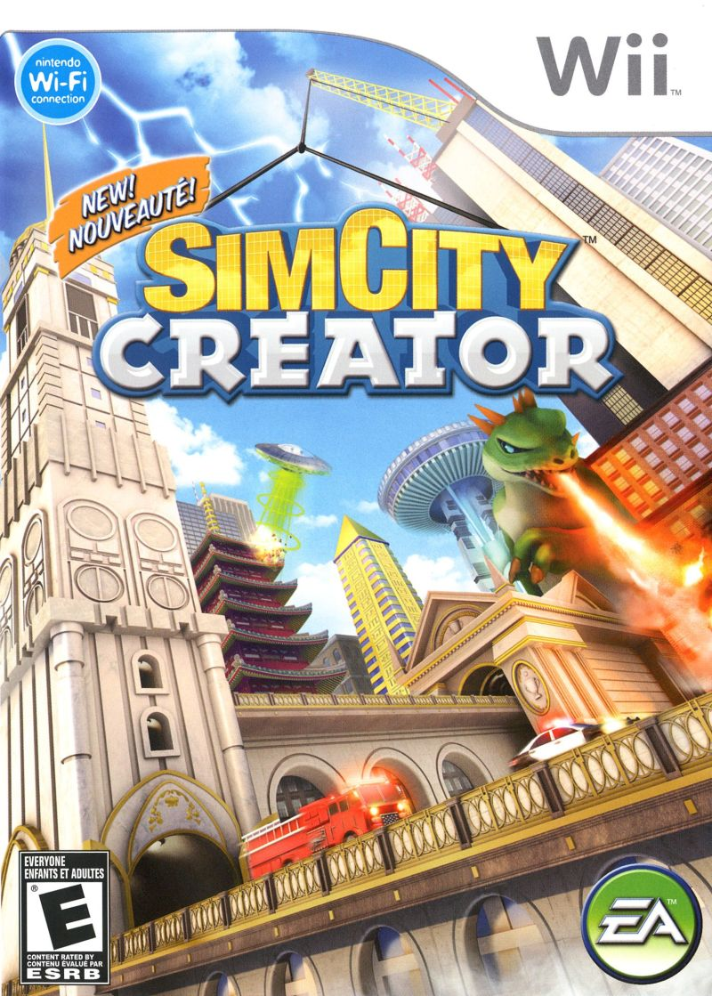SimCity Creator Wii Front Cover