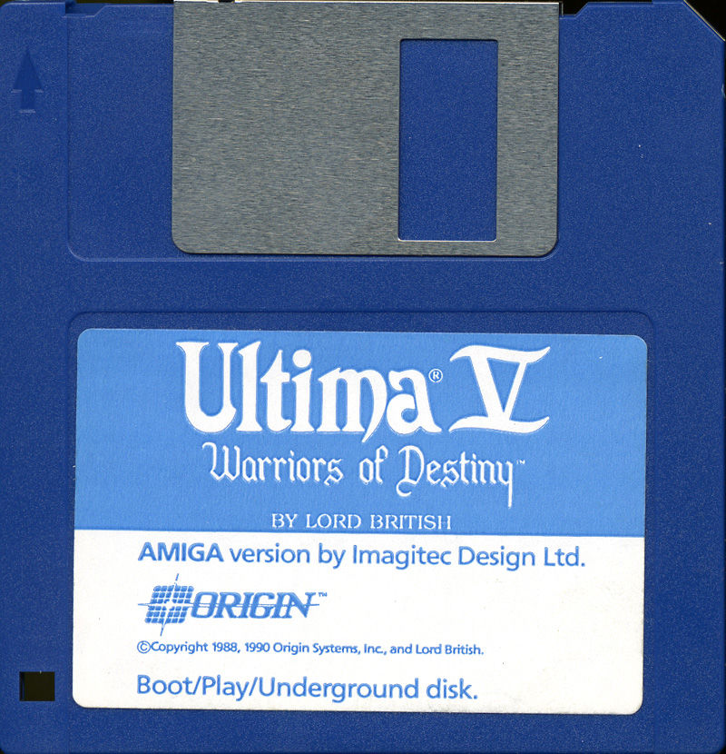 Ultima V: Warriors of Destiny Amiga Media Disk 2 - Boot/Play/Underground disk