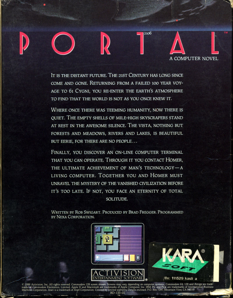 Portal Amiga Back Cover