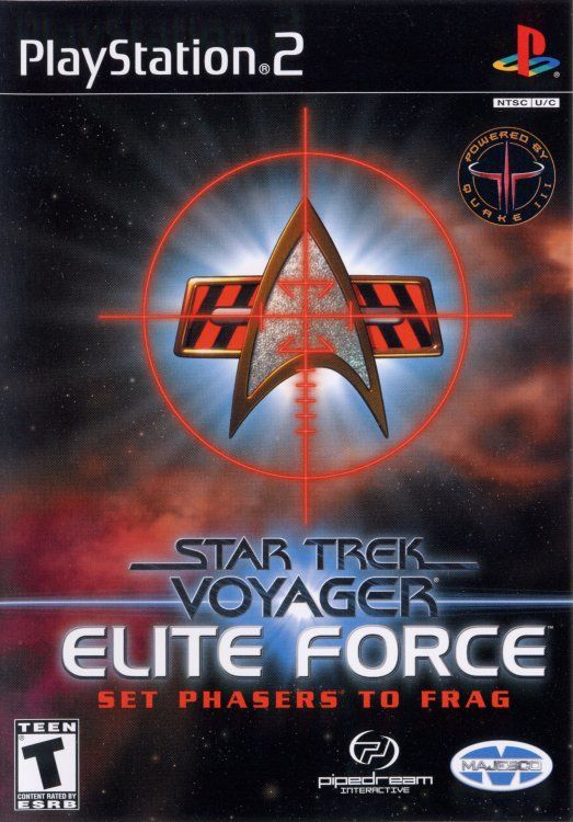 Star Trek: Voyager - Elite Force PlayStation 2 Front Cover