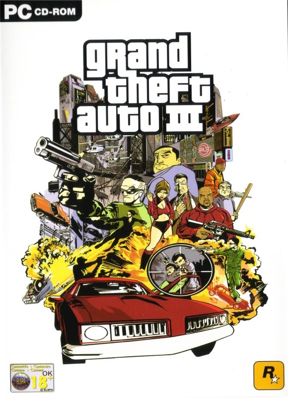 Grand Theft Auto III (2001) box cover art - MobyGames