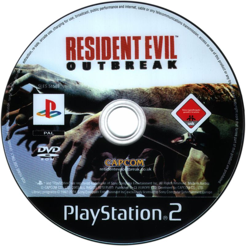Resident Evil: Outbreak PlayStation 2 Media