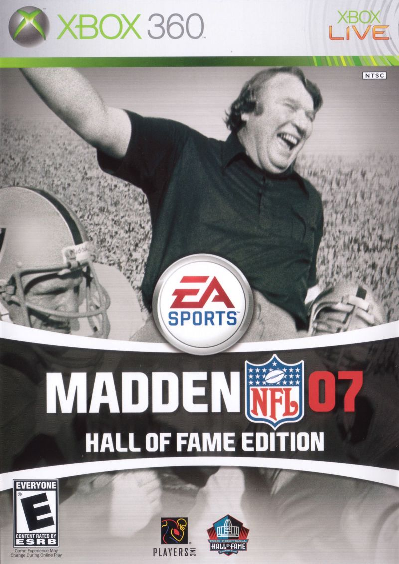 Madden NFL 07 (Hall of Fame Edition) Xbox 360 Other Keep Case - Front