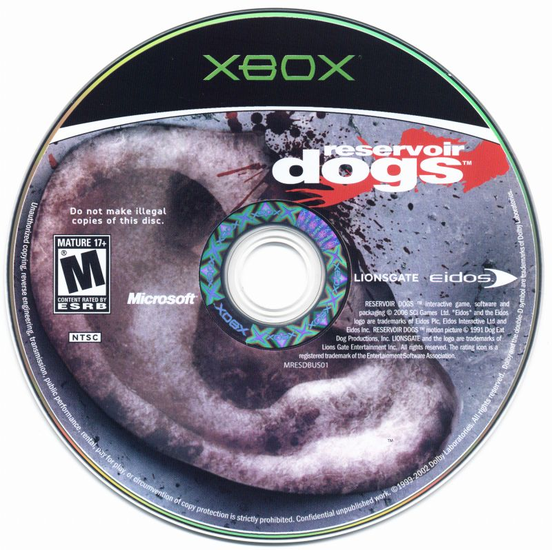 Reservoir Dogs Xbox Media