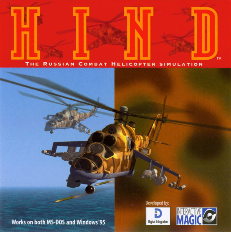 HIND: The Russian Combat Helicopter Simulation DOS Other Jewel Case - Front