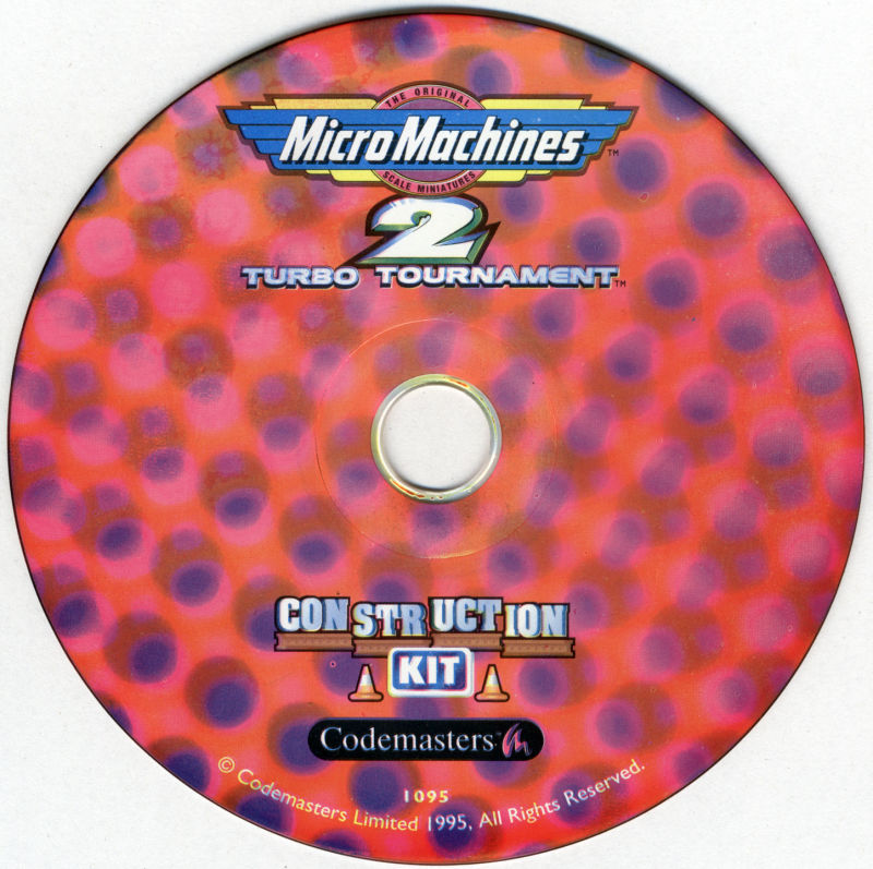 Micro Machines 2: Turbo Tournament DOS Media