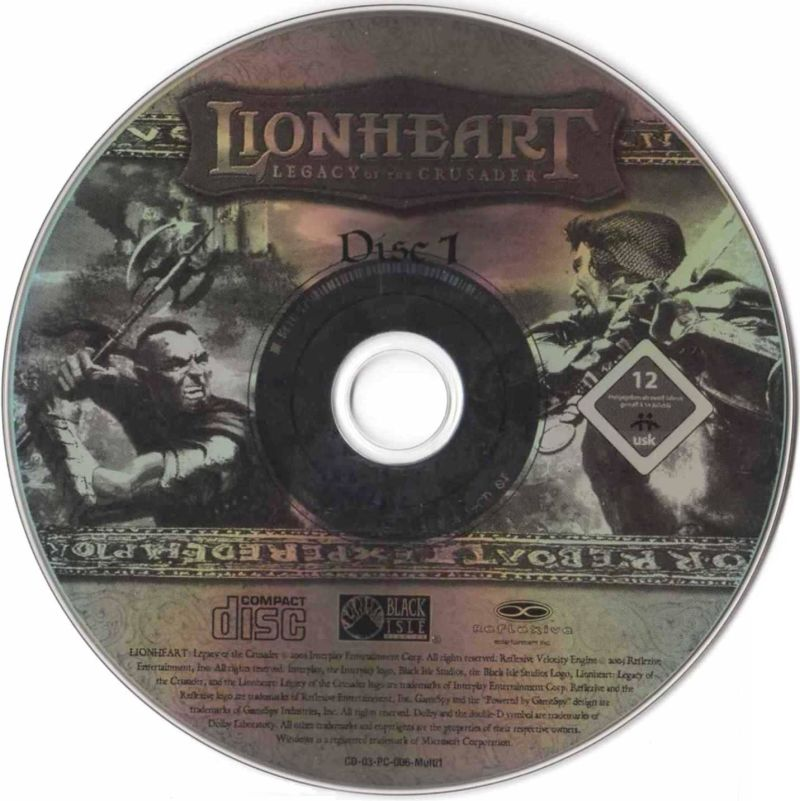 Lionheart: Legacy of the Crusader Windows Media Disc 1