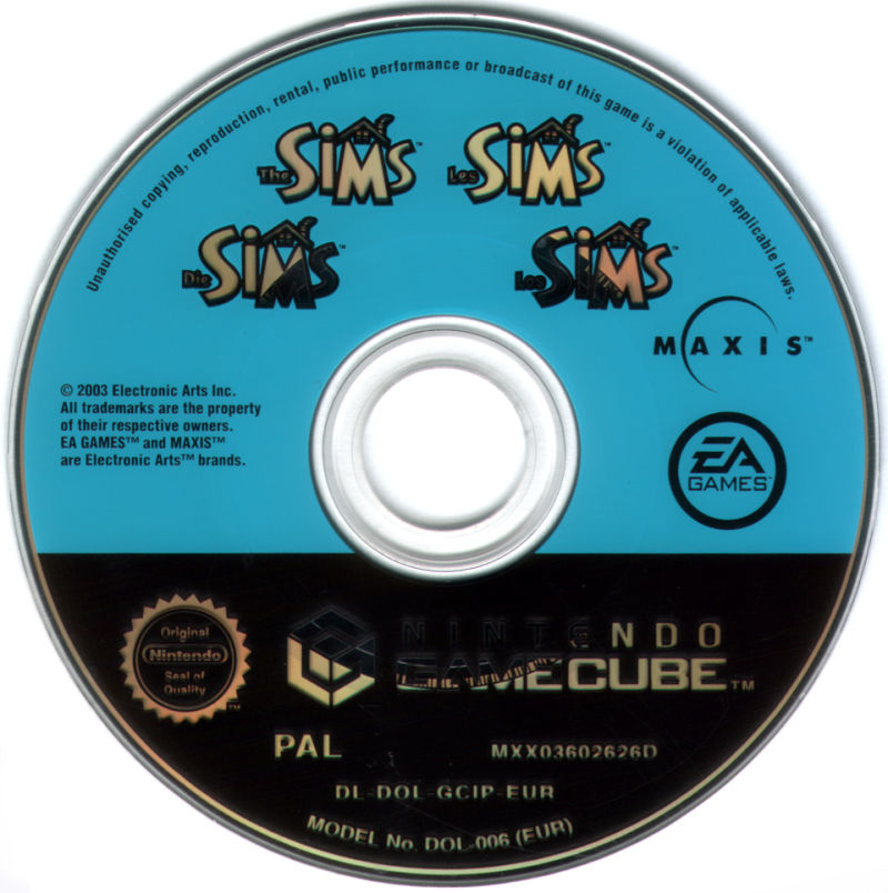The Sims GameCube Media