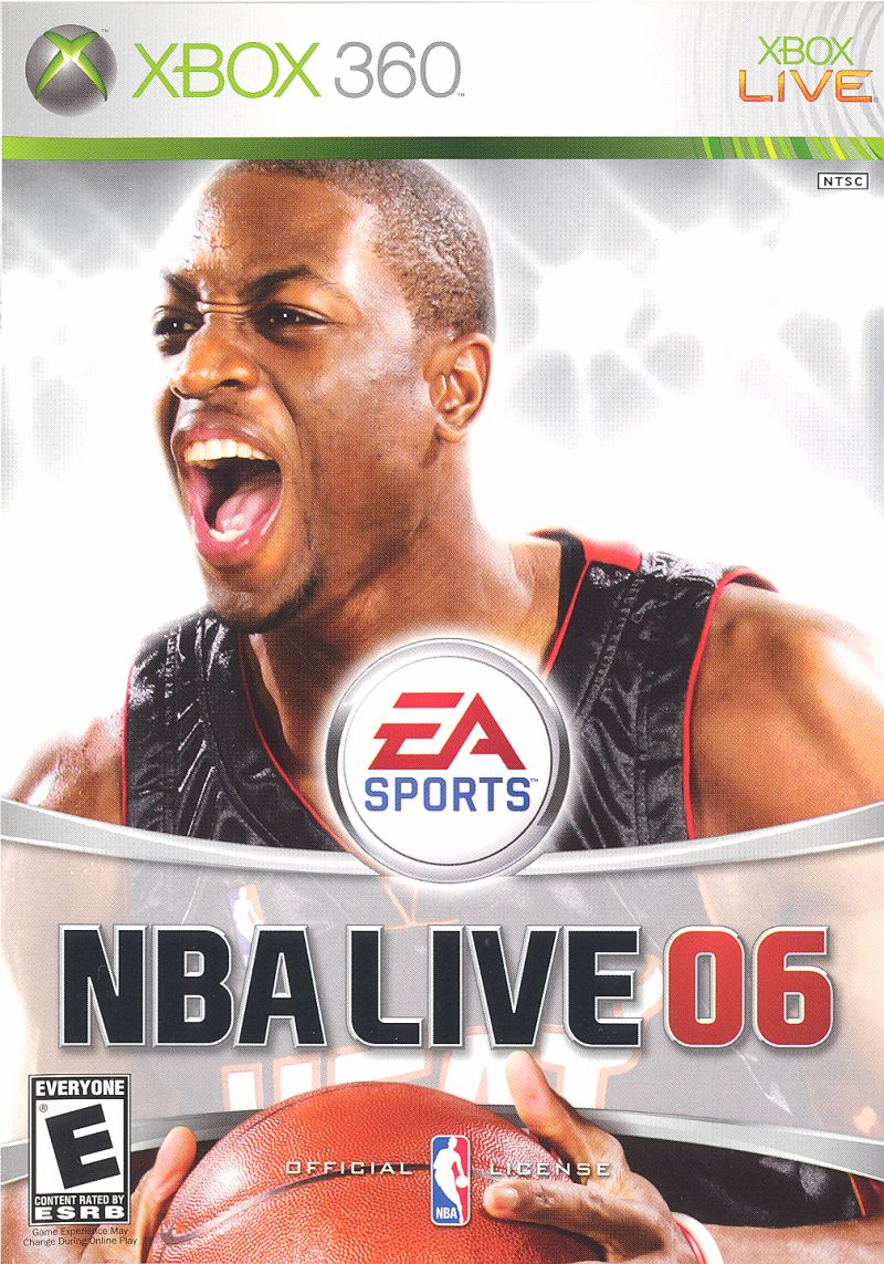 NBA Live 06 Xbox 360 Front Cover