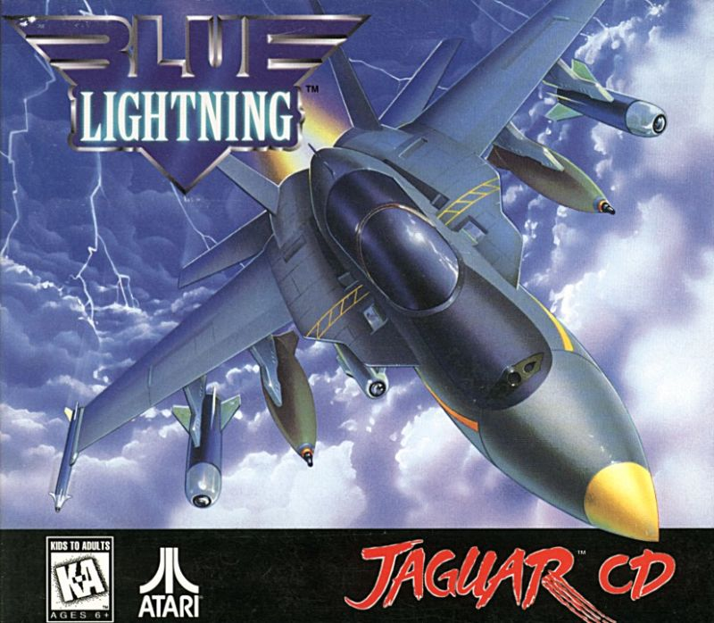 Blue Lightning Jaguar Front Cover