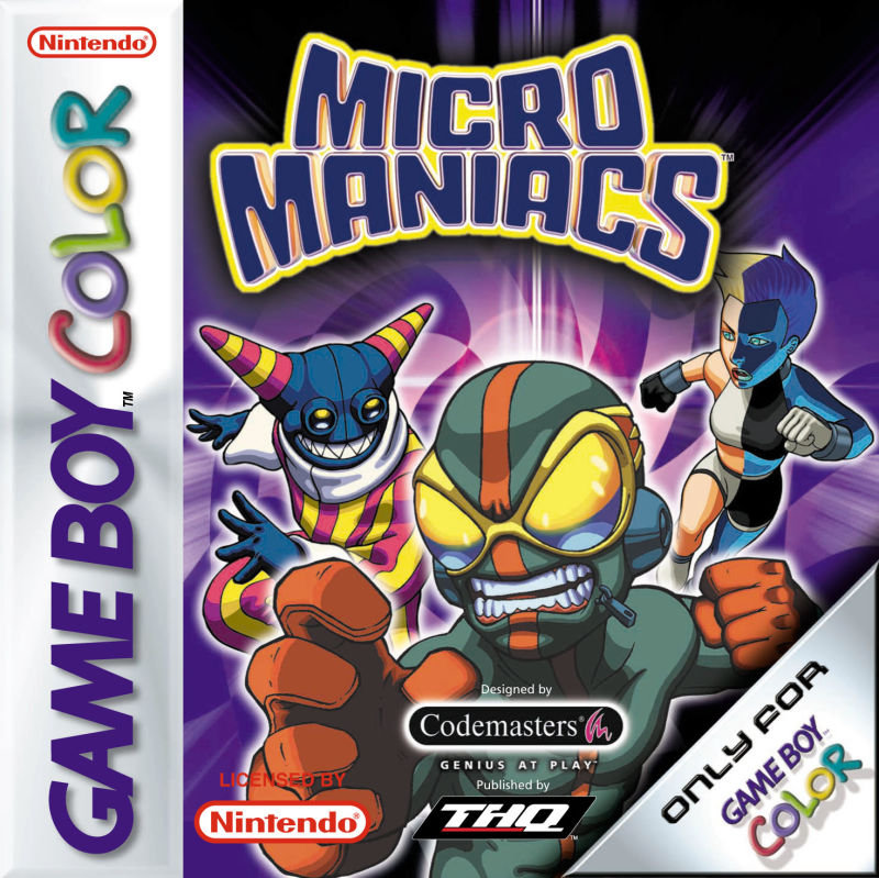 Micro Maniacs Game Boy Color Front Cover