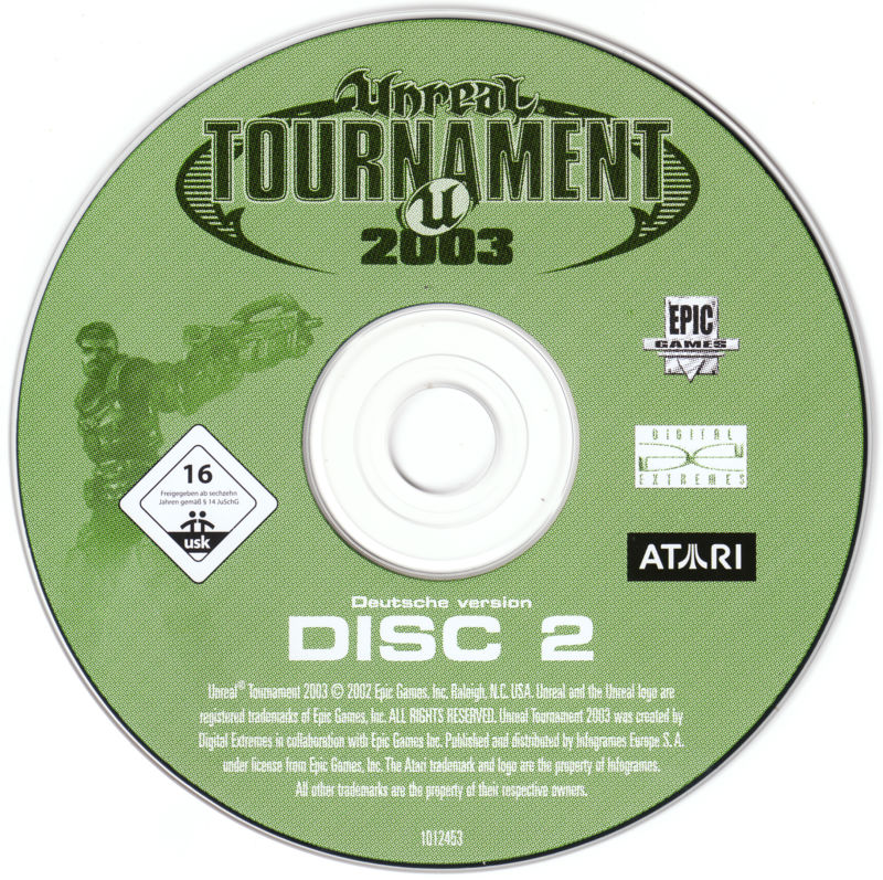 Unreal: Gold Edition Linux Media Unreal Tournament 2003 Disc 2