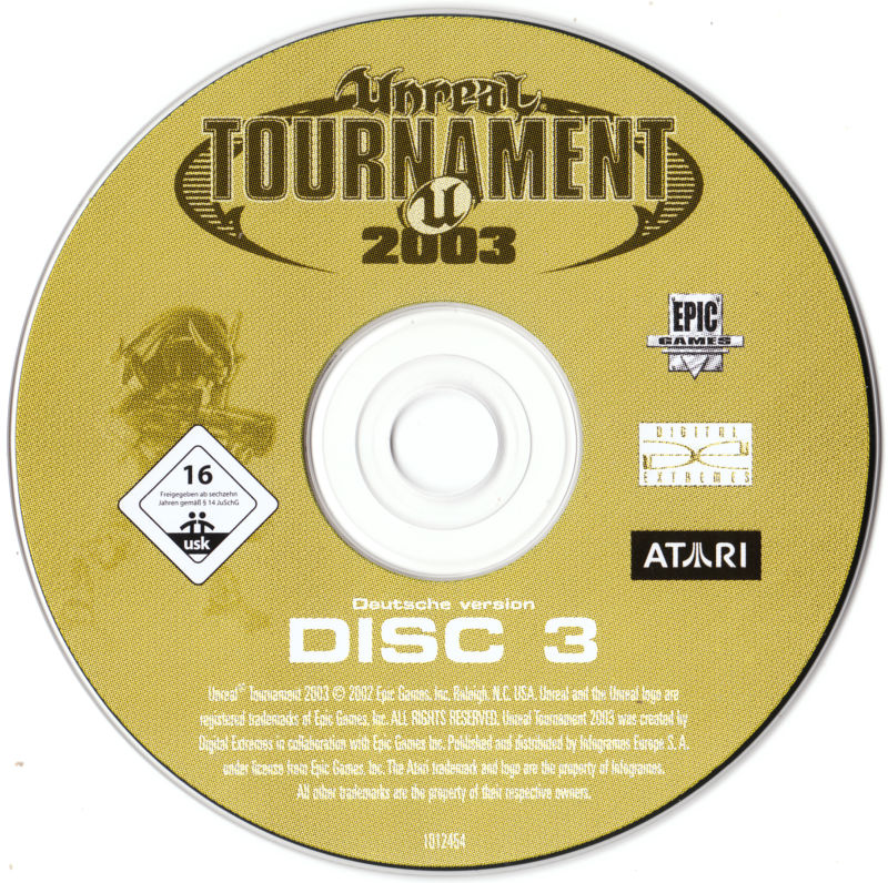 Unreal: Gold Edition Linux Media Unreal Tournament 2003 Disc 3