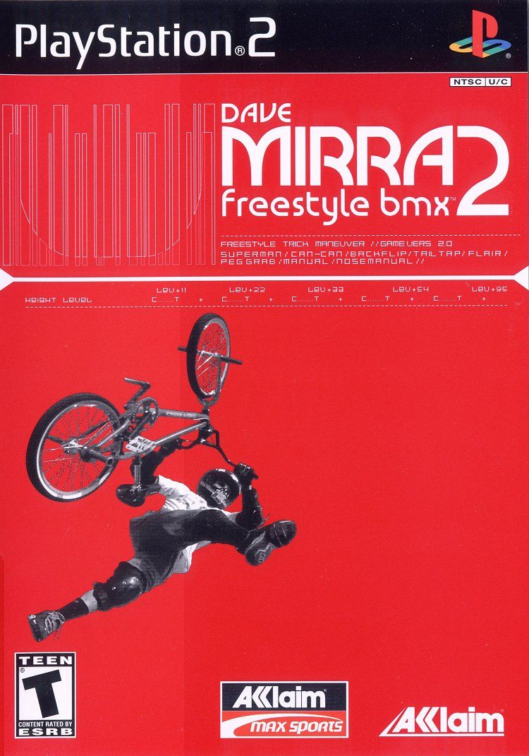 Dave Mirra Freestyle BMX 2 PlayStation 2 Front Cover