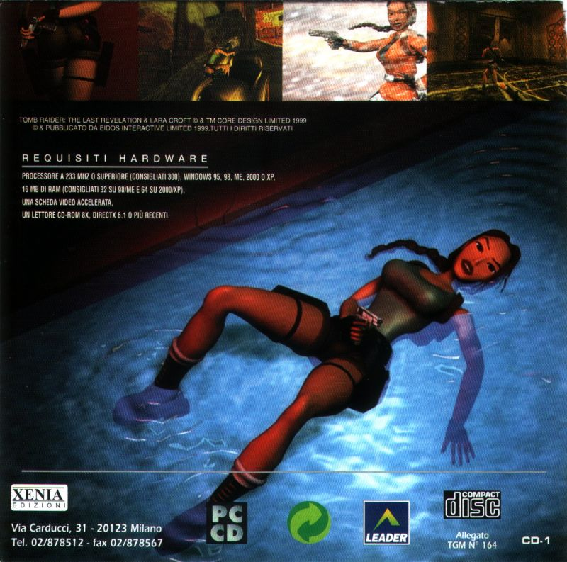 Tomb Raider The Last Revelation 1999 Box Cover Art Mobygames