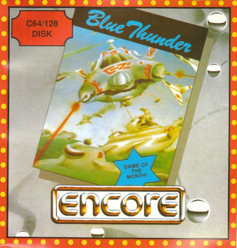 Blue Thunder Commodore 64 Front Cover