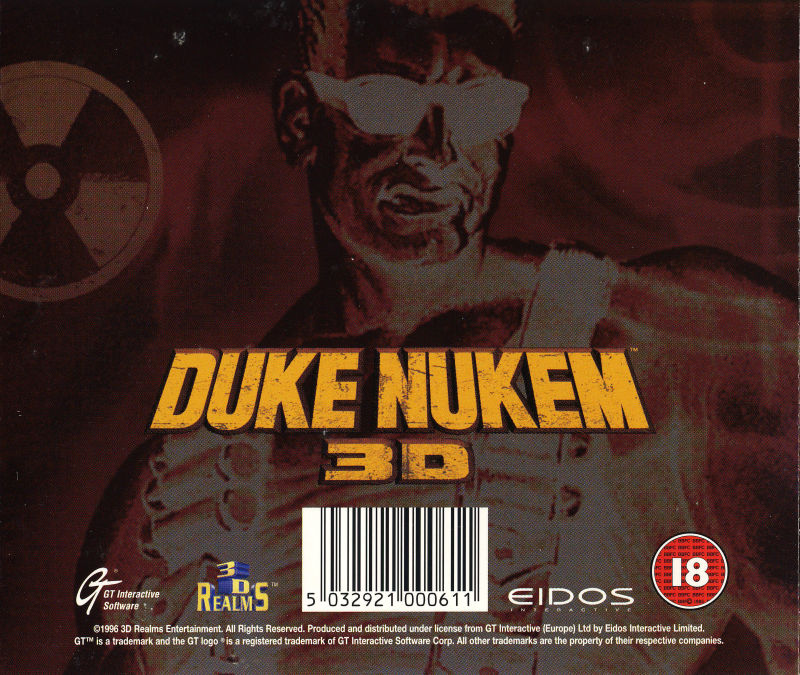 Duke Nukem 3D: Atomic Edition DOS Other Jewel Case - Back