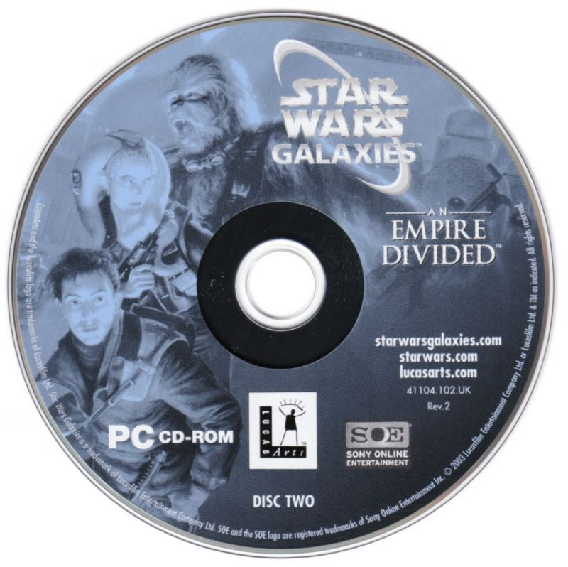 Star Wars: Galaxies - An Empire Divided Windows Media Disc 2