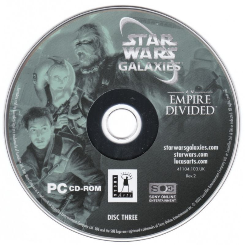 Star Wars: Galaxies - An Empire Divided Windows Media Disc 3