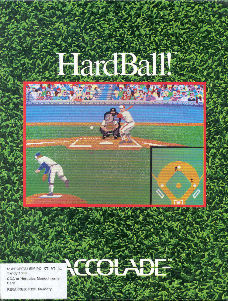 HardBall! DOS Front Cover