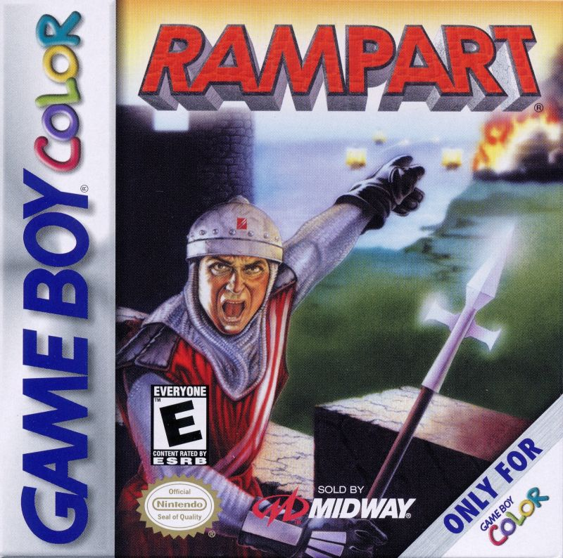 Rampart Game Boy Color Front Cover