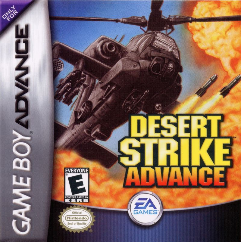 Desert Strike: Return to the Gulf Game Boy Advance Front Cover