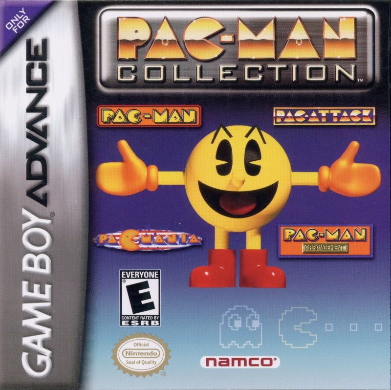 Pac-Man Collection Game Boy Advance Front Cover
