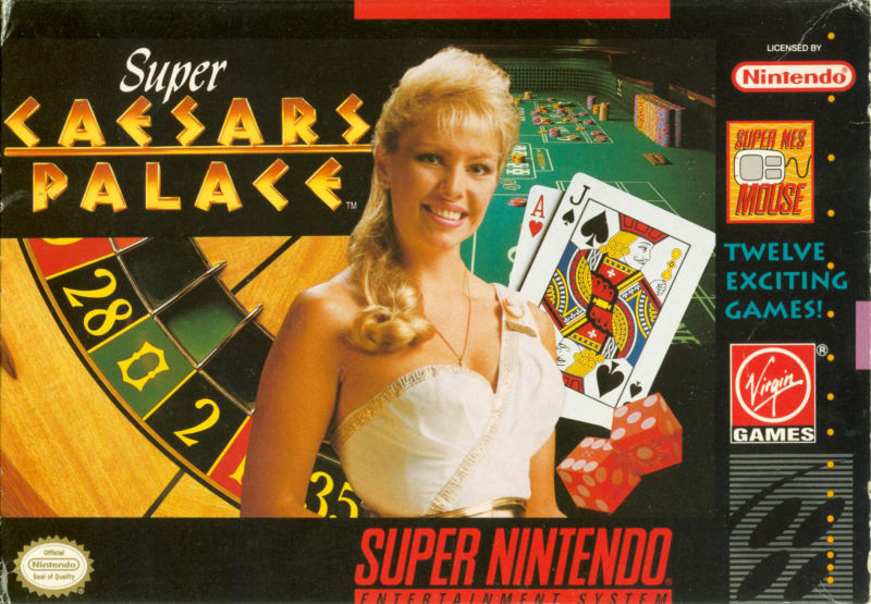 Super Caesars Palace SNES Front Cover
