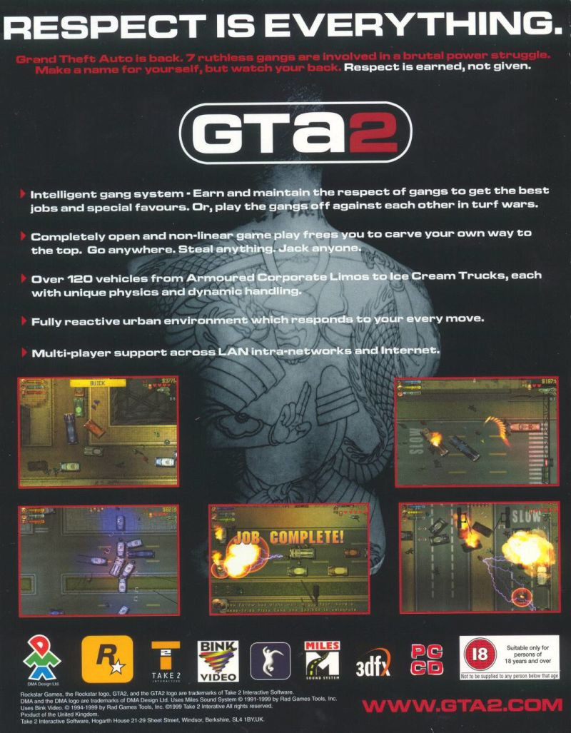 Grand Theft Auto 2 Windows Back Cover