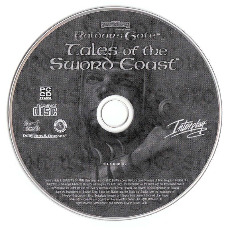 Baldur's Gate: 4 in 1 Boxset Windows Media Baldur's Gate - Tales of the Sword Coast Disc
