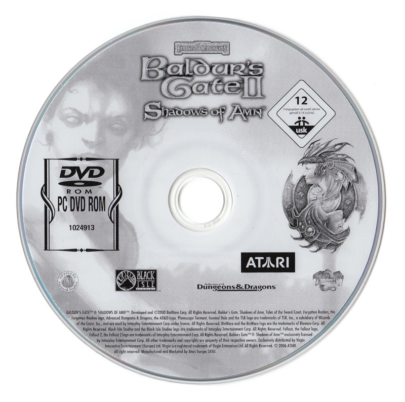 Baldur's Gate: 4 in 1 Boxset Windows Media Baldur's Gate 2 - Shadow of Amn Disc