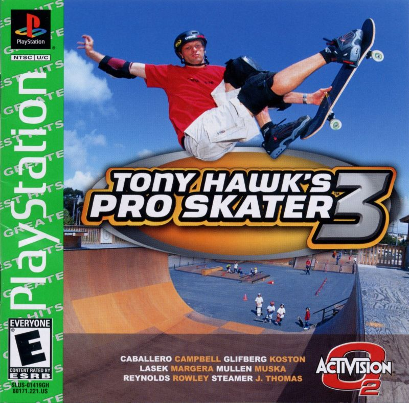 Tony Hawk's Pro Skater 3 PlayStation Front Cover