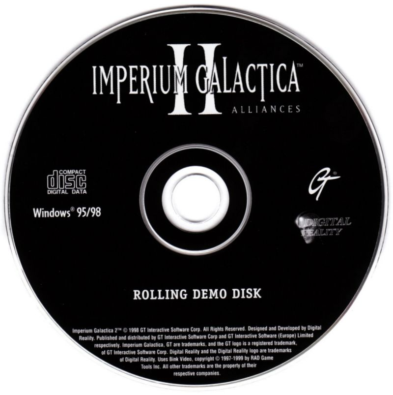 Unreal Tournament Windows Other Rolling Demo Disc Imperium Galactica II