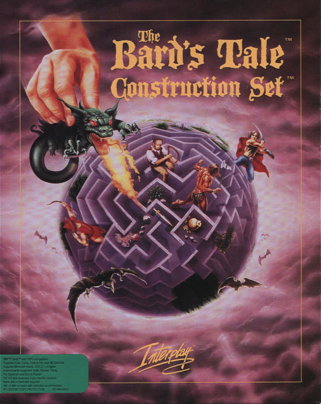 The Bard's Tale Construction Set DOS Front Cover