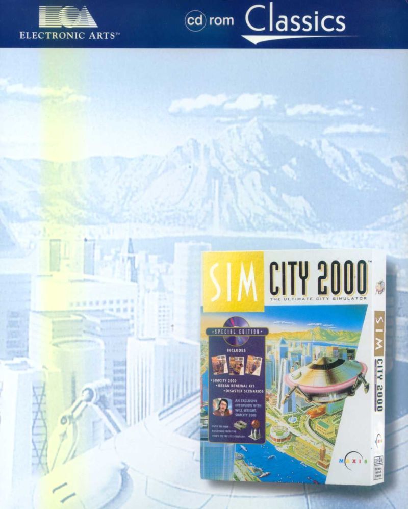 SimCity 2000 DOS Front Cover