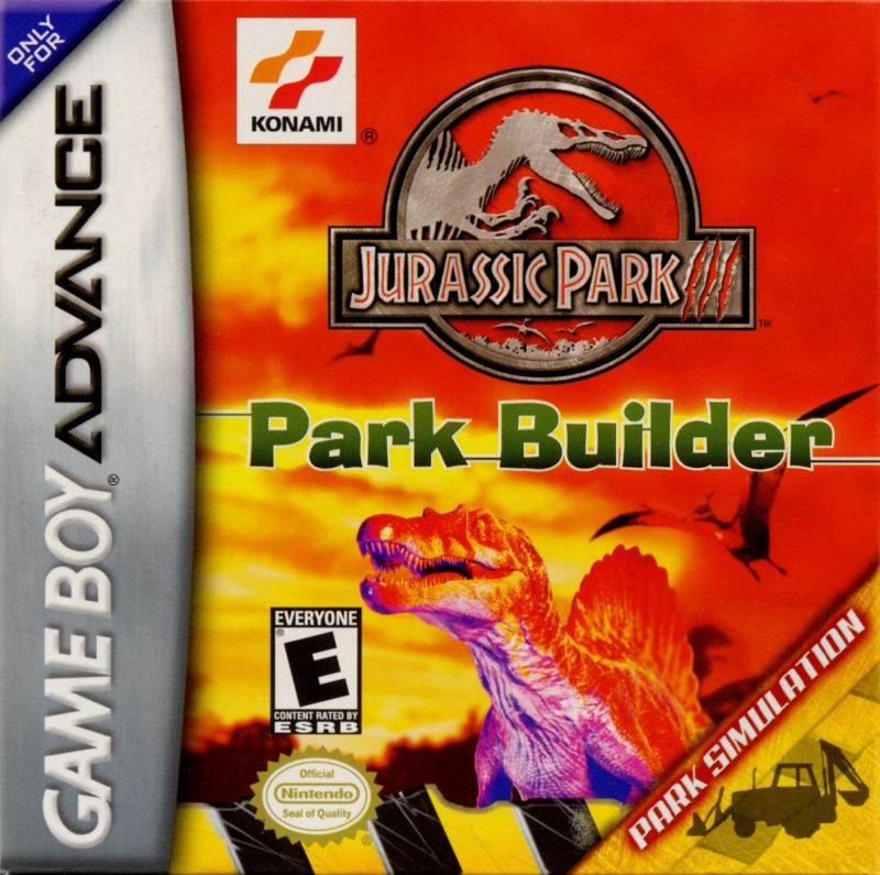 Jurassic Park III: Park Builder Game Boy Advance Front Cover