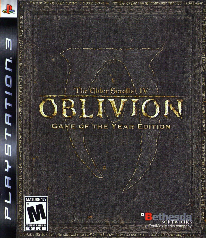 The Elder Scrolls IV: Oblivion - Game of the Year Edition PlayStation 3 Front Cover