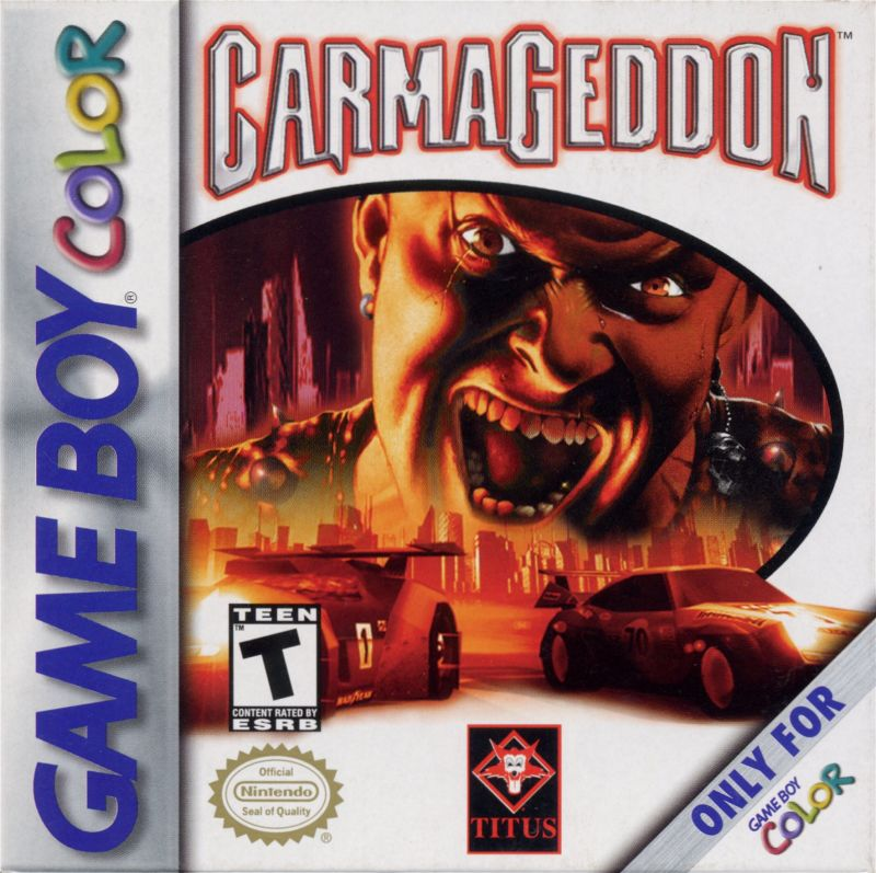 Carmageddon Game Boy Color Front Cover