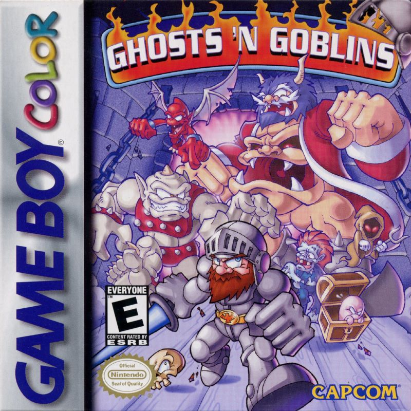 Ghosts 'N Goblins Game Boy Color Front Cover