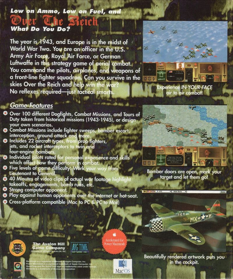Over the Reich Macintosh Back Cover