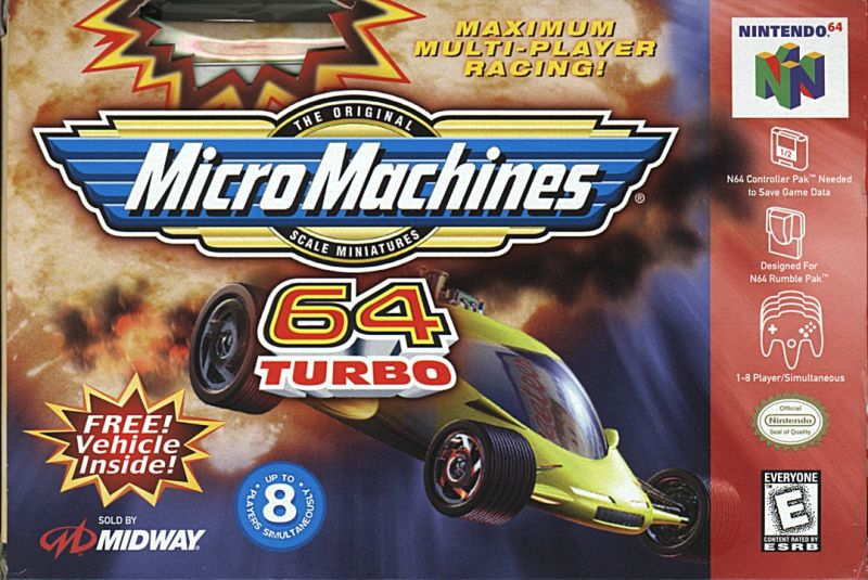Micro Machines 64 Turbo Nintendo 64 Front Cover