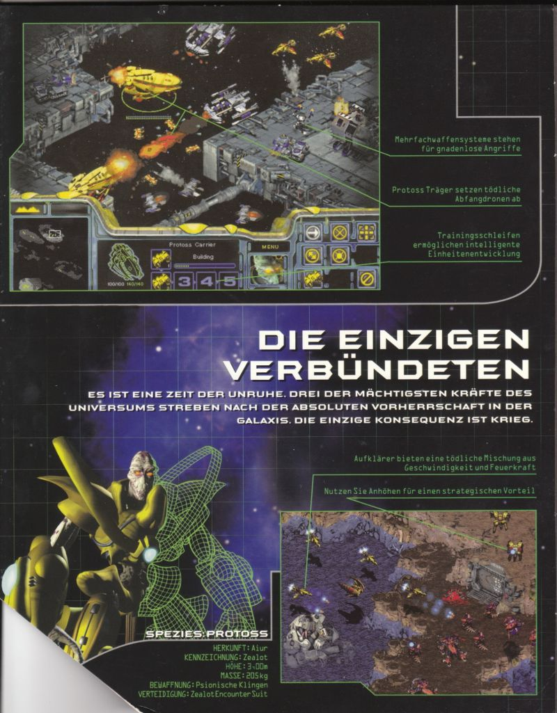 StarCraft Windows Inside Cover Left Flap