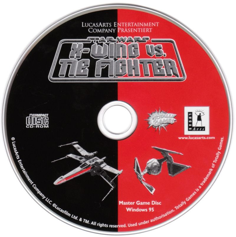 Star Wars: X-Wing Vs. TIE Fighter Windows Media Master Game Disc