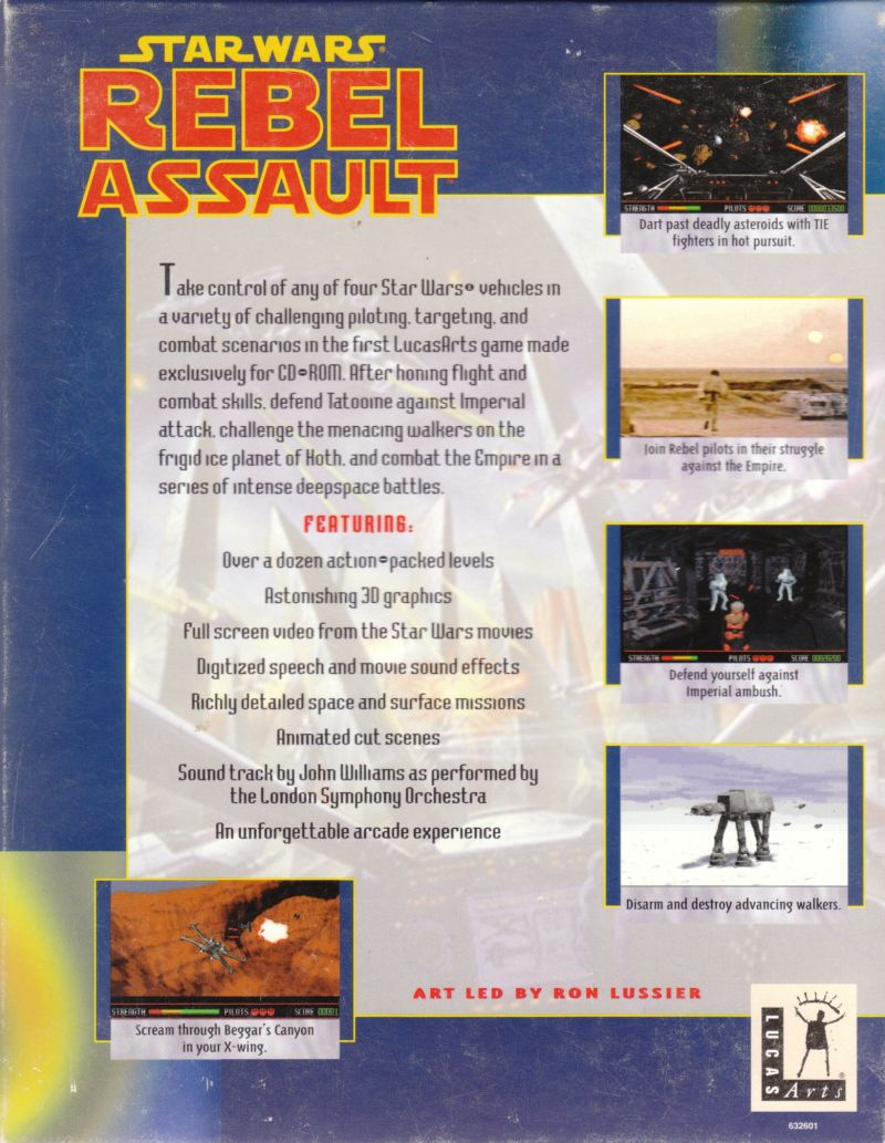 Star Wars: Rebel Assault DOS Back Cover