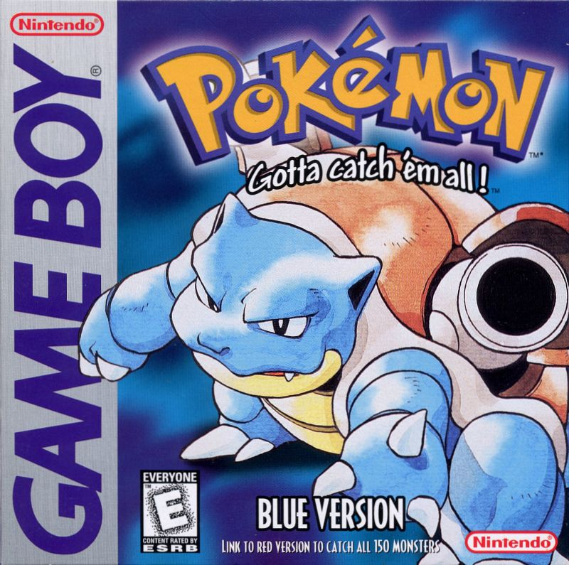 Pokémon Blue Version (1998) Game Boy box cover art - MobyGames